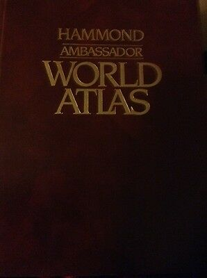vintage Hammond Ambassador  world Atlas 1983 hardcover