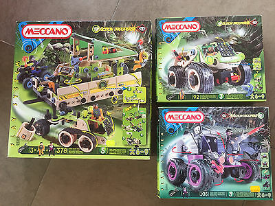 3 Pck. Meccano *Action Troopers* 378 + 92 + 105 Teile Play System rare neu OVP