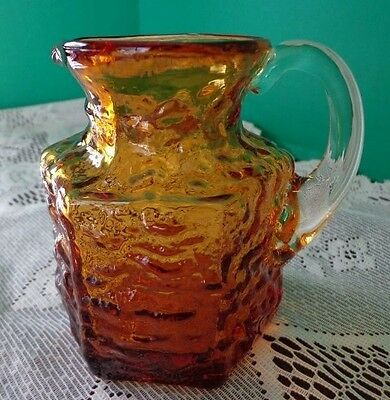 Amber Color Glass Pitcher 4""