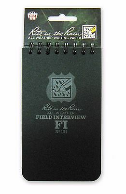 "3"" X 5"" Field Interview Notebook By Rite In The Rain (80-0310)"