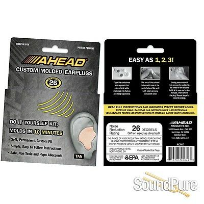 Ahead Custom Molded Earplugs - Tan