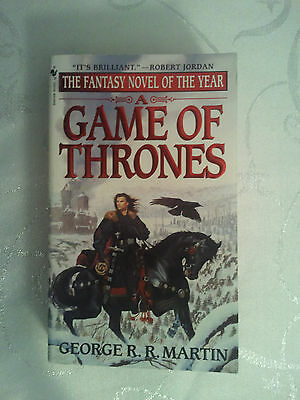 A Game of Thrones by George R.R. Martin. Paperback First U.S. Edition. Jon Snow