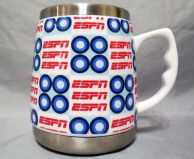 2005 ESPN 16 Ounce Insulated Stainess Drink Mug / Coffee  Pacific Cornetta