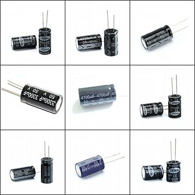 New! Range of Radial Electrolytic Capacitors 22uF to 10000uF, 16V to 450V 105C