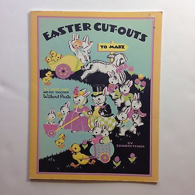 Uncut book Party Cut-outs Table Decoration Invitations Vtg Lambs Children Easter