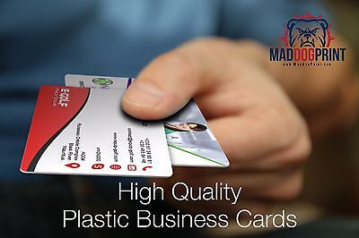 500 Full Color Custom Print 2 Sided 20pt Plastic Business Cards! Free Shipping!
