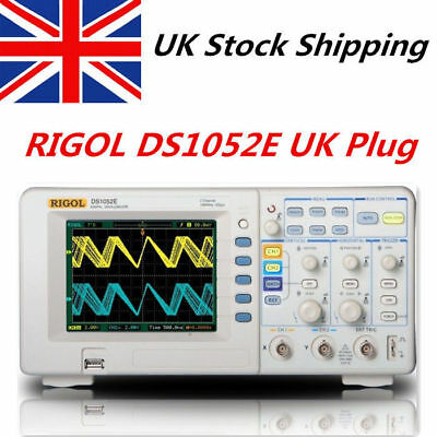 "UK SHIP RIGOL Digital 5.6"" TFT Oscilloscope 100MHz DS1102E 1 GSa/s 1Mpts USB 2CH"