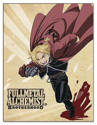 *NEW* Fullmetal Alchemist Brotherhood: Ed Running Sublimation Throw Blanket