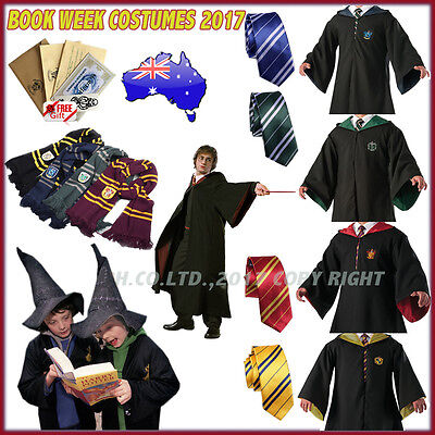 Unisex Harry Potter Robe &Tie Gryffindor/Slytherin Cosplay Costume Cloak Scarf