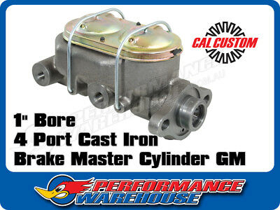 "Cal Custom Cast Iron Brake Master Cylinder 1"" Bore O.e. Style, Gm, Chev, Holden"