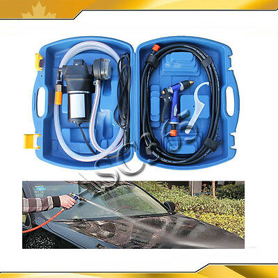 Car/Garden Washing Device Utility Vehicle Portable 12V Cleaner With Blue Case
