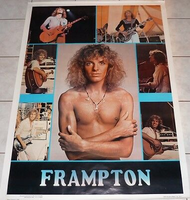 PETER FRAMPTON RARE Vtg 1976 One Stop Giant 42x62 Subway Poster NOS! Comes Alive