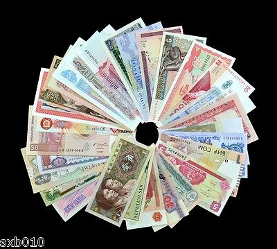 50 kinds of foreign notes, not repeat, UNC, Lots banknotes. free shipping 50PCS