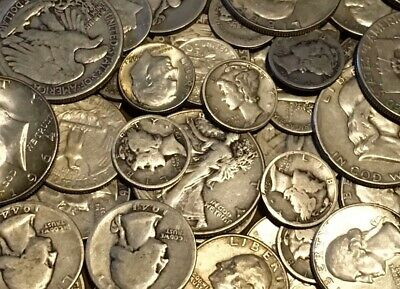 1/4 TROY POUND BAG MIXED 90% SILVER COINS-US MINTED-No Junk-No Nickels!