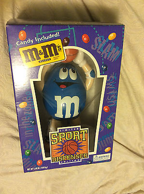 Limited Edition M&M Sports Candy Dispenser Basketball Collectible Never used
