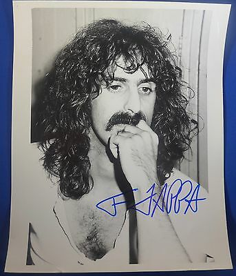 """FRANK ZAPPA deceased 1993 """"Mothers of Invention"""" signed autograph 8 by 10 photo"""