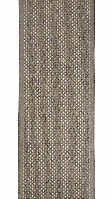 Seaspray Silver Pindot Style HALL RUNNER Rubber Backed 67cm wide