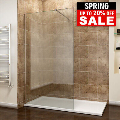 Walk in Wet Room Shower Screen Panel 8mm EasyClean Glass Shower Cubicle and Tray