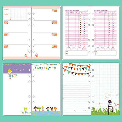 A5/A6 Cartoon Colourful Diary Insert Refill Schedule Organiser Notebook Filler