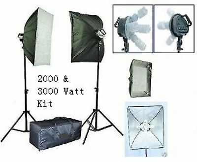 2000 Watt continuous lighting kit - photography or video lighting kit (9020)