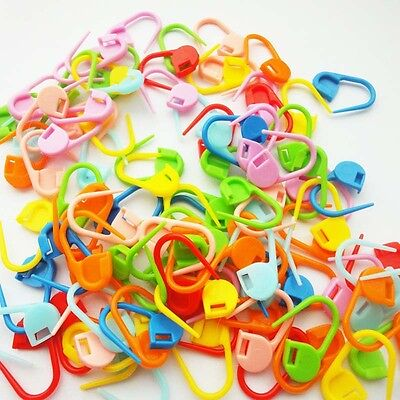 100pc Knitting Craft Crochet Locking Stitch Chic Needle Clip Markers Holder Cute