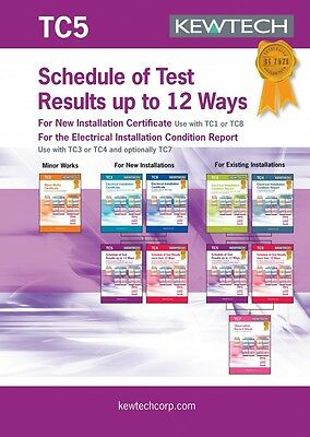 Kewtech TC5 Inspection & Test Schedule[for up to 12way]