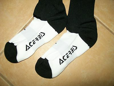 NEW Acerbis Atlantis BOOT Socks Black white Large ADULTS approx 8-11 42-45