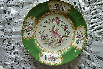 Mintons England Cockatrice Green Large 26 Cm Dinner Plate 1930