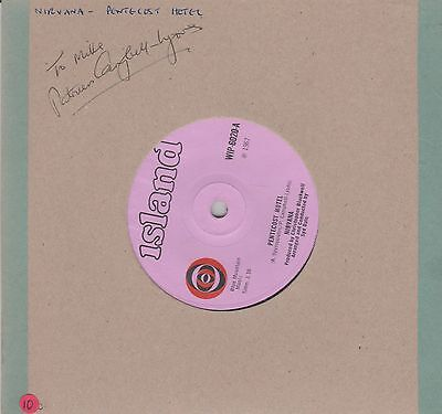 Signed Nirvana Record - 7 inch 45 RPM - Blue Mountain Music - Island