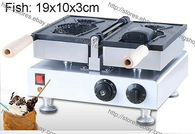 Commercial Nonstick Electric Ice Cream Taiyaki Maker Fish Waffle Baker Machine