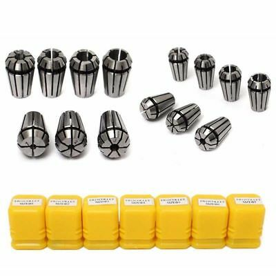 7x ER11 Spring Collet Set for CNC Engraving Machine Milling Lathe Tool & Boxes _