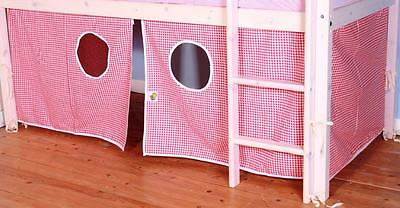 Red Gingham Playtent for Midsleeper Bed