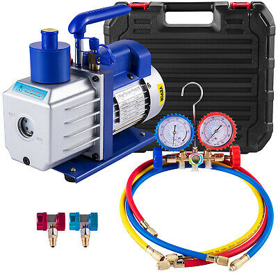 4.8CFM Vacuum Pump 1Stage Air Conditioning Refrigeration Tools Manifold Gauges