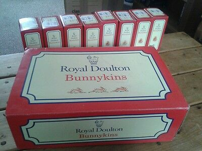 Royal Doulton Bunnykins Fully Complete Set With Base Boxed