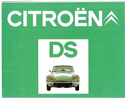 Citroen DS 1973-75 UK Market Sales Brochure Special Super 5-21 23 Pallas EFi