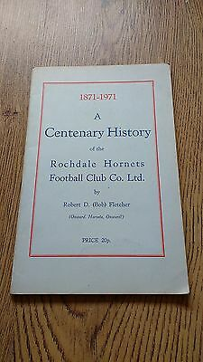 'A Centenary History of the Rochdale Hornets' 1971 Rugby League Booklet