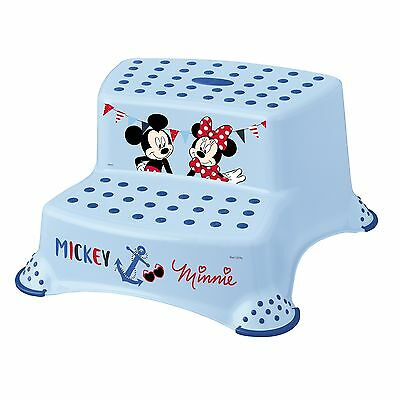 Keeeper Mickey Tritthocker zweistufig mit Anti-rutsch-Funktion light blue TOP