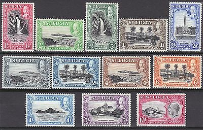 St Lucia-1936 Definitive Set. SG113/124. Very fresh MM.