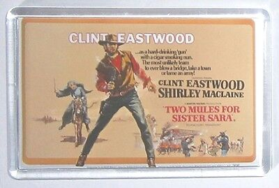 Two Mules for Sister Sara Clint Eastwood movie poster magnet Keyring MacLaine