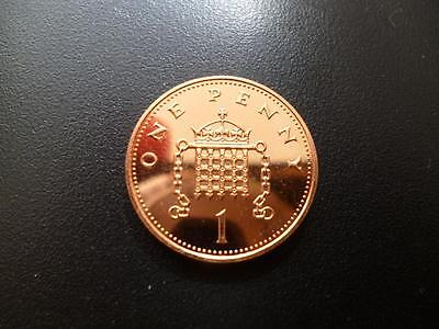 1995 BRILLIANT UNCIRCULATED ONE PENCE PIECE. 1995 uncirculated 1p coin.