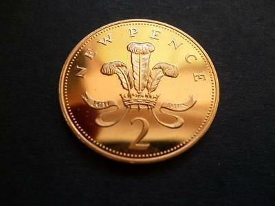 1980 Proof 2P Piece, 1980 Two Pence Coin In Proof Condition.