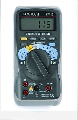 Kewtech KT115 Digital Multimeter 600V & 10A AC Multimeter