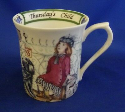 A Queen's 'birthday Week' Mug - Thursday's Child (Boxed)