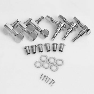 New Chrome Inline Guitar String Tuning Pegs Tuners Machine Head#JS~