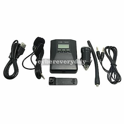CZE-T200 Portable FM Transmitter Radio Broadcast Stereo Mono for Tourism Meeting