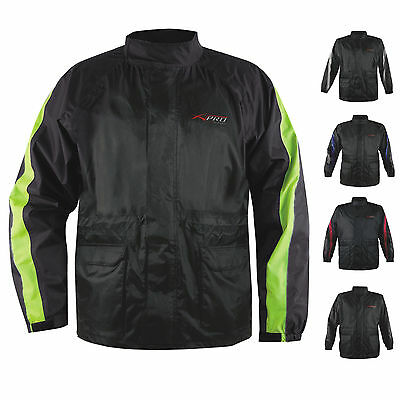 Rain Jacket Warterproof Over Coat Motorcycle Motorbike Scooter Inside Lined