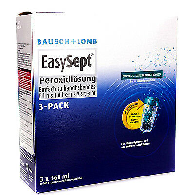 Bausch & Lomb Easysept Eye Contact Lens Cleaner 3 x 360ml Pack of 3