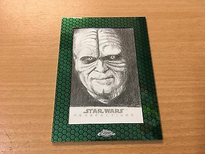 Star Wars Chrome Perspectives JedI v Sith Sketch Card By Brent Ragland (AWESOME)