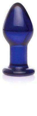 Don Wand New Butt Plug 9886 Glass Pleasure Ultra Smooth Blue 3 3/4 Adult Sex Toy