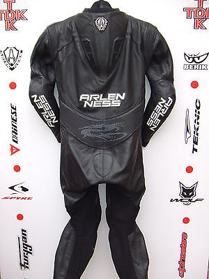 Arlen Ness 8307 Black/white One Piece race leathers with hump uk 42 euro 52